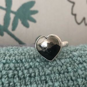 Jewelry - Healers Gold Heart Sterling Silver Ring Sz 8